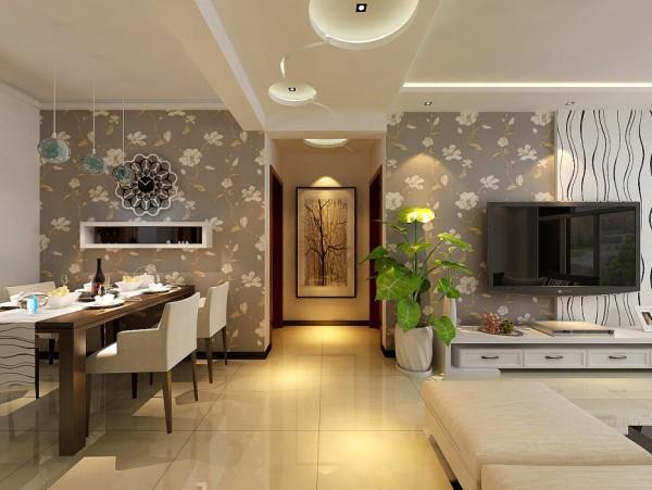 走廊的设计很好的区分了客餐厅。