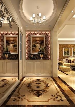 简约 欧式 高度国际 三居 白领 80后 白富美 高富帅 小清新 玄关图片来自北京高度国际装饰设计在鲁能七号院140平欧式公寓的分享