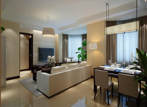 沙发的巧妙放置,使客餐厅看似分离,实则浑然一体,更弥补了客厅面积的不足,使空间豁然开朗。绿植花卉的点缀,避免了色调太过单调沉稳,生气勃勃起来,昭示着,一个有情调的熟男堪称完美。