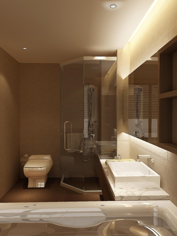 紫晶悦城-126平米D2户型欧式装修设计-卫生间效果图
