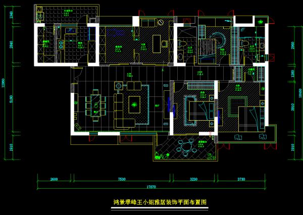 鸿景翠峰三居室平面图
