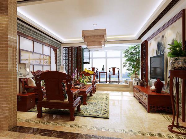 以中国传统古典文化作为背景,营造的是极富中国情调的生活空间,紫砂茶壶,青花瓷以及一些工艺品等都体现了浓郁的东方之美。