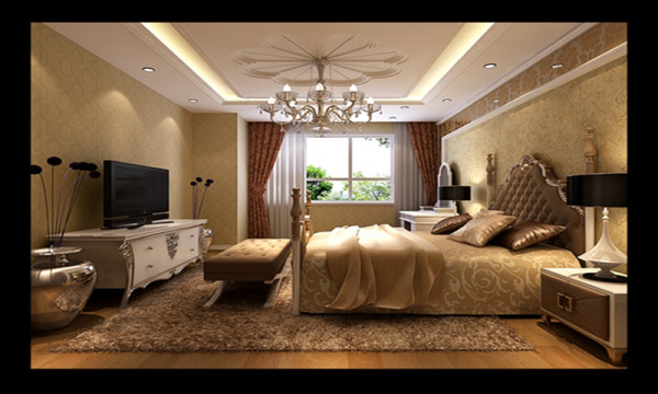 """简欧风格继承了传统欧式风格的装饰特点,吸取了其风格的""""形神""""特征,在设计上追求空间变化的连续性和形体变化的层次感,室内多采用带有图案的壁纸、地毯、窗帘、床罩、帐幔及古典装饰画,体现华丽的风格"""