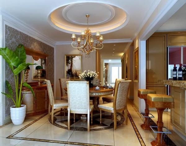注重美既要重视室内空间的使用功能,同时过道的方形及圆弧吊顶在整体上和客厅餐厅保持了共同特点,另外半拱形的垭口而不包边,体现了一种简易而又思想的装饰内容
