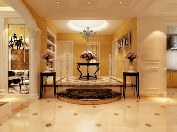 走廊与休闲区精取了经典的欧式局部元素,'表达其秀丽典雅,在空间上追求连续性,追求造型的统一和层次感。