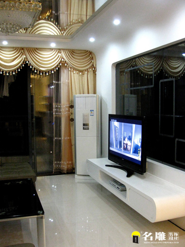 名雕装饰设计—新世纪星城二居—现代时尚—电视柜