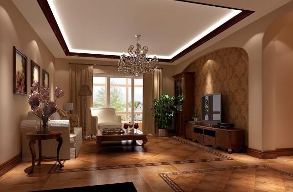 非常适合老年人享受人生的设计风格,喜欢仿古砖,拱形的哑口造型,大量的暖色雕为主,较多的采用红实木为造型,天花的造型较复杂,显得厚重感极强