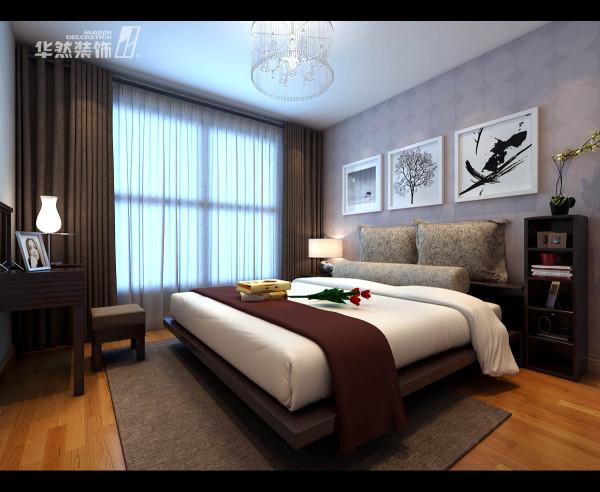 顶峰国际公寓卧室效果-华然装饰