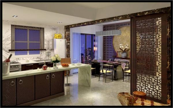 左边整体吧台下面结合鞋柜与厨房的厨柜连成一个整体图片