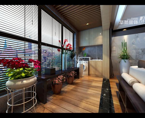 顶峰国际公寓阳台效果-华然装饰