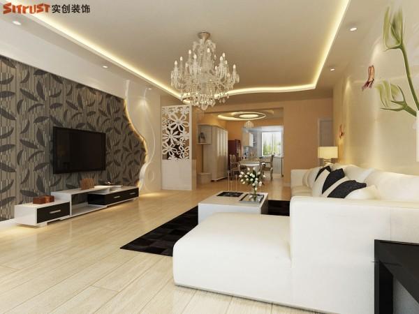 紫御府-123平G1户型装修设计-客厅效果图