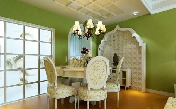 亮丽的绿色墙漆更显独特魅力。
