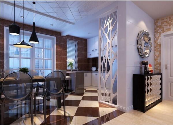墙面采用大块的色彩装饰,增强立体感的效果