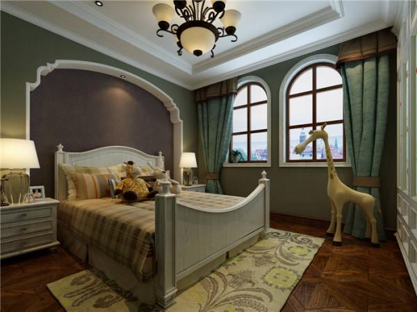 普罗旺世罗曼维森别墅美式风格-卧室效果图