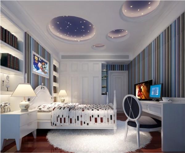 金荣盛景濠庭美式风格复式别墅装修设计-儿童卧室效果图