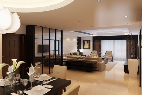 高富帅的家,曲江南苑230新古典,客厅