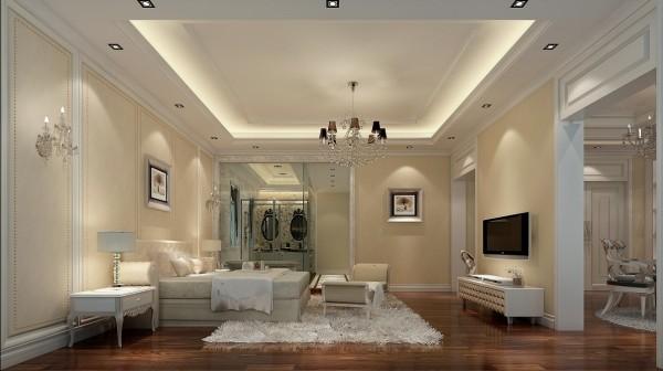 迎宾路3号别墅新古典风格装修设计效果图-卧室效果图