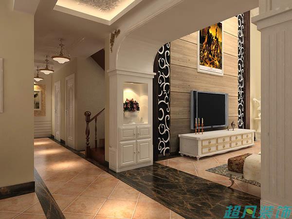 超凡装饰别墅设计-绿城百合欧美风格复式别墅装修设计效果图