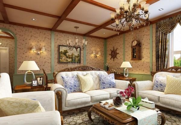 客餐顶部吊顶采用木质假粱处理,更融于整体环境中