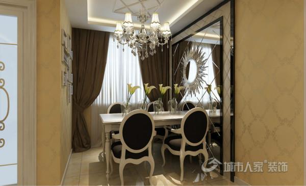 85平米的小户型欧式风格品鉴-餐厅
