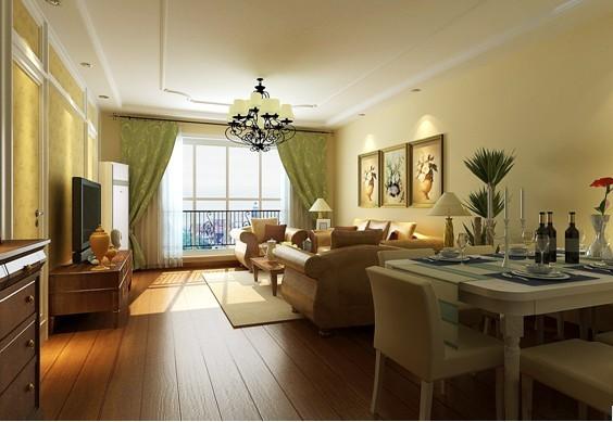 客厅的空间相对宽敞些,所以利用了客厅的空间开发了储藏室,在次卫生间门口处隔墙拆掉后改为洗手台,使用功能上更完善,在家具的摆放选择上都选用了欧式比较有代表性的家具