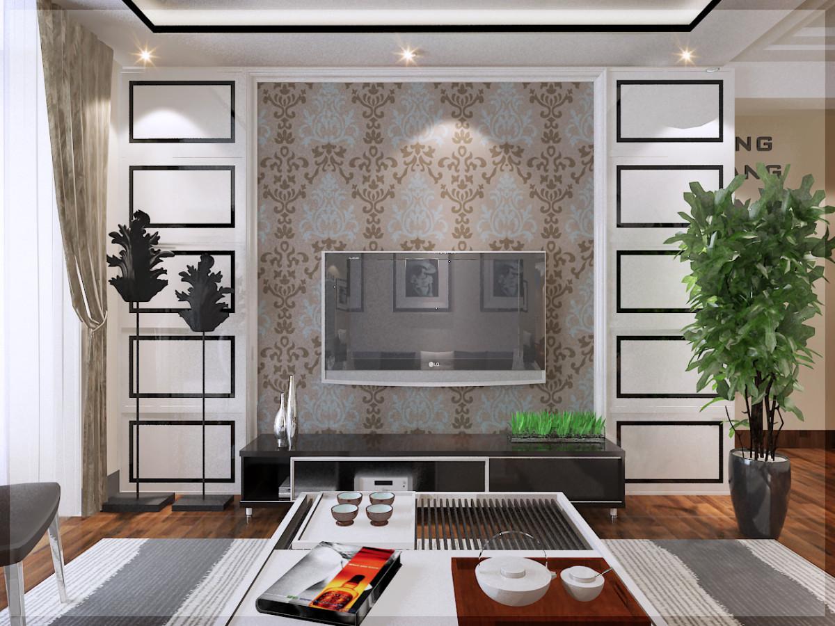 电视背景墙用石膏板做简单 造型 图片