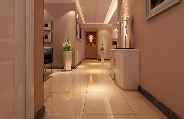超凡装饰装修设计-升龙玺园138平现代简约风格装修设计效果图-玄关及走廊效果图