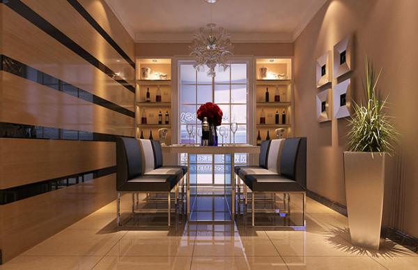 超凡装饰装修设计-升龙玺园138平现代简约风格装修设计效果图-餐厅效果图