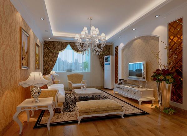 客厅 温馨舒适 房子为三室两厅户型,格局合理,采光通风都比较好。进门处鞋柜和衣帽柜的设计,考虑的功能的划分。简约和欧式并存的电视背景墙造型及温馨大方的壁纸很好的烘托了客厅的气氛。