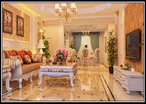 整个客餐厅通过精美的地拼,精致的壁挂,使整个风格豪华、富丽,充满强烈的动感,置身其中,舒适、温馨的感觉袭人,让那为尘嚣所困的心灵找到了归宿。