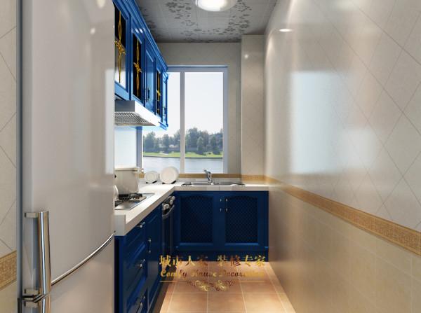 80平米地中海装修品鉴-厨房