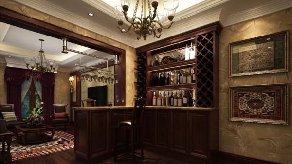 墙面饰面板、古典欧式壁纸等硬装设计与家具在色彩、质感及品味上,完美地融合在一 起。凸显出古典欧式雍容大气的家居效果。