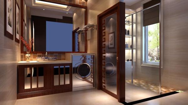 """所以,二层与三层总体的装修色 调以温馨与舒适为主,板栗色实木地板,与米色系墙纸的搭配,营造""""静区""""的家居氛围。此套别墅的设计,着重点放在一层,突出""""动区""""的""""雅""""和""""韵""""。"""