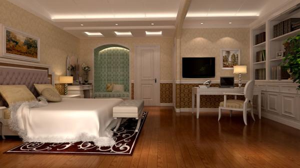 在天花板、墙壁、地板、家具和摆件的造型色彩上都做了细微的处理,使整个室内呈现出非 常完整的高雅效果。