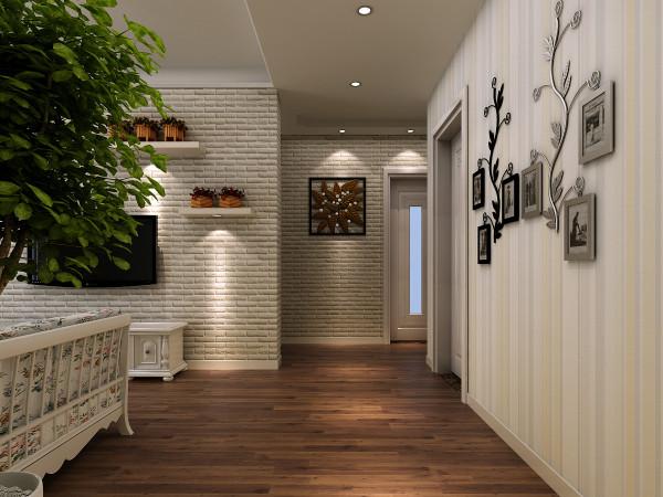 郑州实创装饰-升龙又一城99平三居室-过道效果图