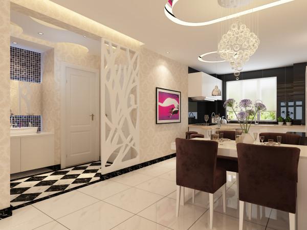12万打造保利时代简约时尚3居-餐厅设计