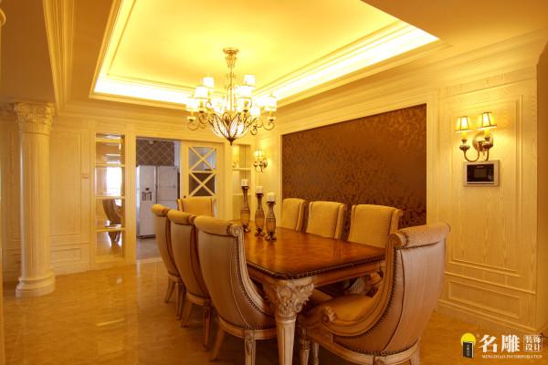 名雕装饰设计—中信红树湾—简欧四居室—餐厅