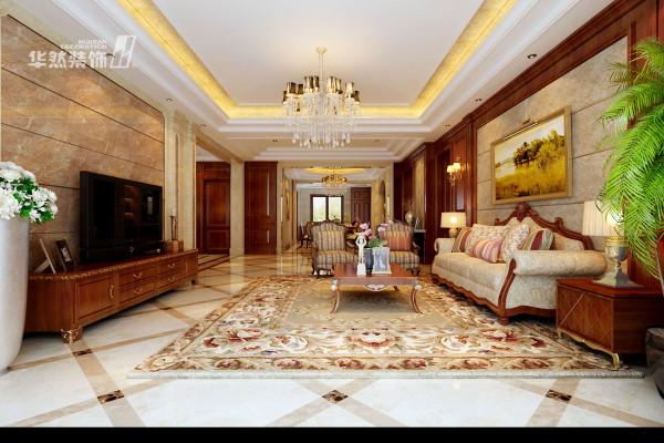 内森庄园多角度客厅效果-华然装饰作品