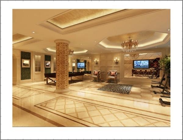 万城华府 800平米 新古典主义风格 棋牌室设计