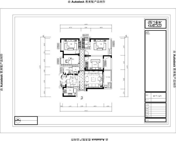 合肥川豪装饰重点开发小区—华润橡树湾145平平层/4室2厅1厨2卫。平面方案