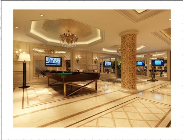 万城华府 800平米 新古典主义风格棋牌室设计