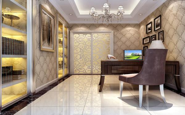 书房设计符合人们生活习惯,同时书房的隐形设计,大大增加了房间的趣味及美观,同时使人在视觉上增加了房间的空间。用更加隐晦的手法明确了功能分区,空间布局。
