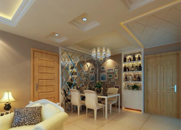 裕亚银湖城恬淡浪漫简欧2居室-餐厅设计