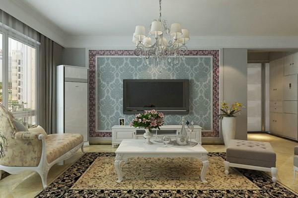 电视墙 设计摒弃了过于复杂的造型和装饰,时尚装饰材料和浪漫温馨的颜色体现了业主的浪漫温情。