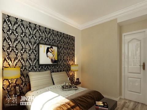 时尚而个性的床头墙纸,配合现代时尚的床头灯,让客厅既时尚又个性,还不乏浪漫的色彩。