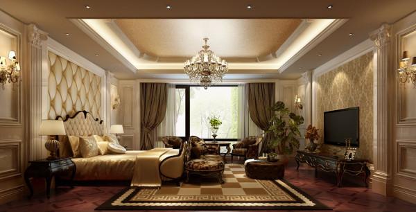 西山壹号院欧式风格设计案例之卧室