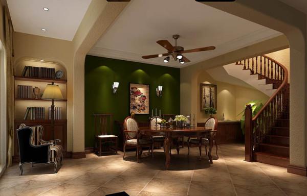 地下餐厅。26万打造君山高尔夫托斯卡纳范