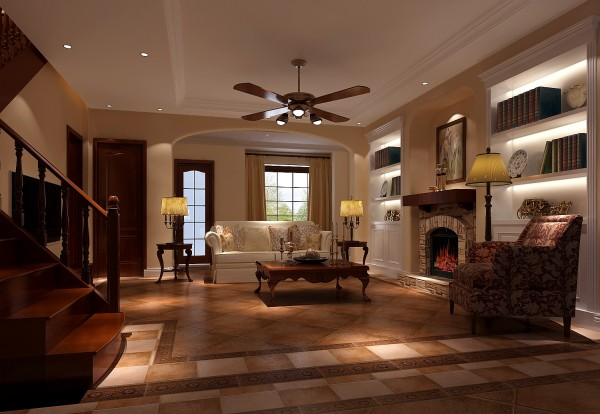 方案是多用于倒圆角的哑口来营造温馨、舒适的优雅居所,运用米黄色的艺术涂料、仿古砖、木梁上顶来体现与大自然的完美结合,给予人一种放松、休闲的感觉!