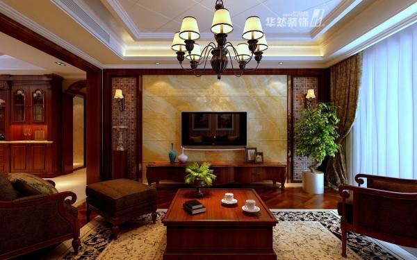 合肥融侨观邸大户型客厅效果-华然装饰