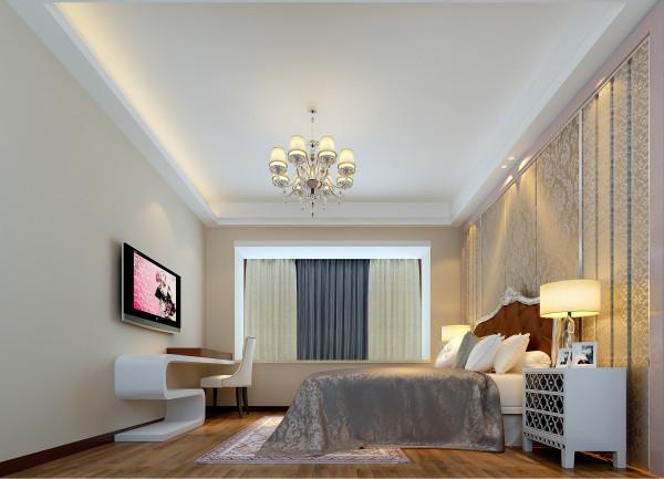 绿地国际金融城时尚唯美简欧风-卧室设计